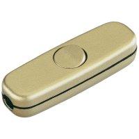 Šňůrový vypínač interBär , 1pólový, 250 V/AC, 3 A, zlatá
