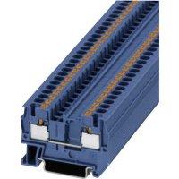 Svorka Push-in průchodová Phoenix Contact PIT 4 BU (3211760), 6,2 mm, modrá