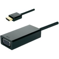 Video adaptér HDMI ⇔ VGA, 5 cm