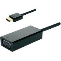 Video adaptér HDMI ⇔ VGA, 5 cm