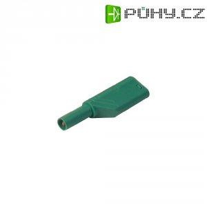 Bezpečnostní zástrčka SKS Hirschmann LAS S G (934099104), rovná, Ø 4 mm, 1,5 mm², zelená