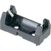 Držák na baterie 1/2 AA Keystone, 16 x 34,5 x 15 mm, černá