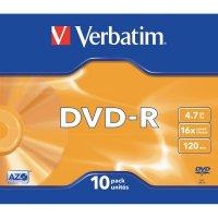 Verbatim DVD-R 4,7GB 16X 10 ksSLIMCASE