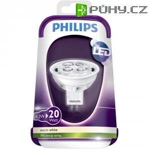 LED žárovka, Philips, 12 V, 4,2 W, GU5.3
