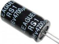 4700u/16V 105° 13x25x7,5mm, elektrolyt.kondenzátor radiální