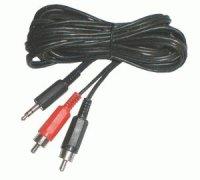 Kabel Jack 3.5 stereo - 2 x CINCH konektor 5m