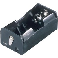 Držák na baterii 1x D s pájecími kontakty, 69 x 35 x 27,5 mm