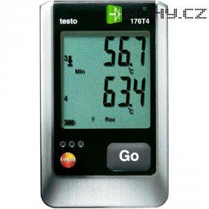 Teplotní datalogger testo 176-T4, -200 až +400 °C Typ T,-195 až +1000 °C Typ K