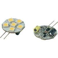 LED žárovka Renkforce, G4, 1,2 W, 30 V, 33 mm, teplá bílá