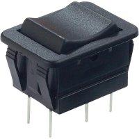 Kolébkový spínač Arcolectric C1572VBAAC, 2x (zap)/vyp/(zap), 250 V/AC, 16 A, černá