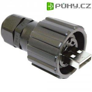 Sada USB 2.0 Conec 17-200121, IP67, zástrčka rovná
