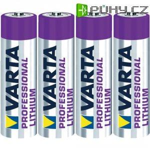 Lithiová baterie Varta Professional, typ AA, sada 4 ks