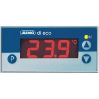 Panelový termostat JUMO di eco, 230 V/AC, 69 x 28,5 mm, -200 až 600 °C