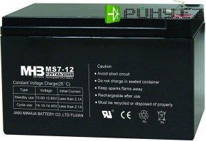 Pb akumulátor MHB VRLA AGM 12V/7Ah, faston 6,3mm