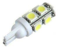 Žárovka LED T10 12V/2,3W bílá, 9xSMD5050