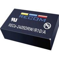 DC/DC měnič Recom REC6-2415SRW/R10/A (11001483), vstup 18 - 36 V/DC, výstup 15 V/DC
