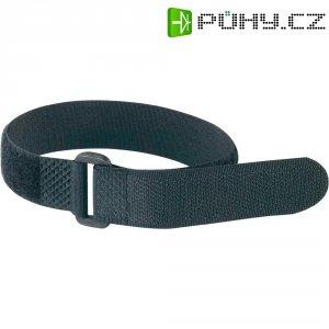 Páska se suchým zipem a přezkou Fastech 19046/20, 300 mm x 20 mm, černá