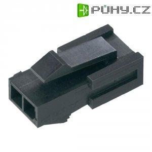 Pouzdro konektoru TE Connectivity 1445048-6, 250 V, 3,0 mm, černá