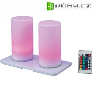 Akumulátorové RGB LED svítilny s dálkovým ovládáním, 170 mm