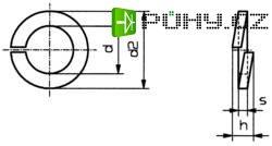Pérové podložky vnitřní Ø: 5.1 mm M5 DIN 127 pružinová ocel 100 ks TOOLCRAFT B5 D127:A2K 188667