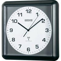 Analogové DCF nástěnné hodiny Eurochron EFW 5001, 30 x 30 x 4,4 cm, černá/šedá