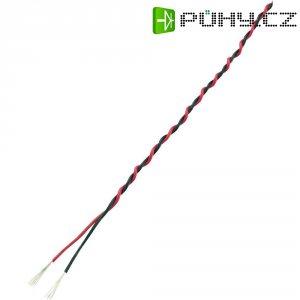 Servo kabel kroucený Modelcraft, 5 m, 2 x 0.17 mm², červená/černá