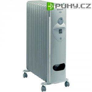 Olejový radiátor Honeywell HR-41125E, 1000/1500/2500 W, světle šedá