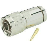 Konektor N BKL Electronic 404060, 50 Ω, zástrčka rovná