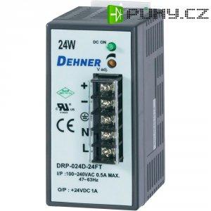 Napájecí zdroj na DIN lištu Dehner Elektronik DRP-024D-15F, 1,6 A, 15 V/DC