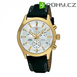Ručičkové náramkové hodinky Swiss Military Chronograph, 20085PL-2L, kožený pásek