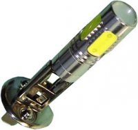 Žárovka LED H1 12V/9W, bílá, 4xLED 1,5W +1x 3W