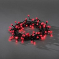 Venkovní vánoční řetěz Konstsmide, červený, 80 LED