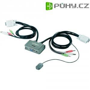 Přepínač Edimax USB-KVM, se 2 porty, audio