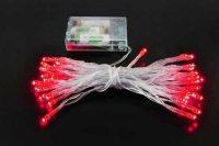 Vánoční osvětlení 40 x LED - červená barva