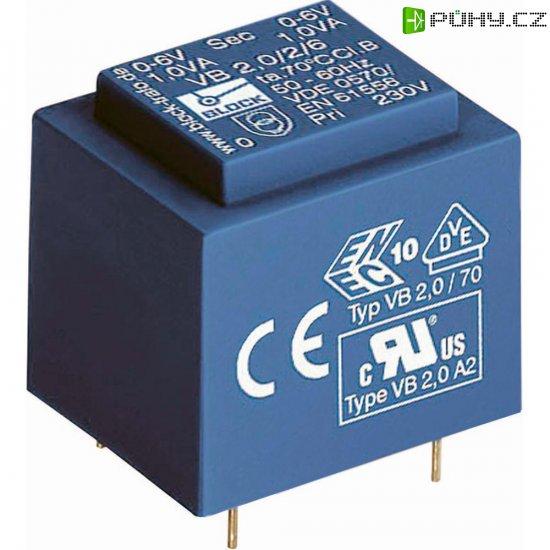 Transformátor do DPS Block EI 30/12,5, 230 V/6 V, 200 mA, 1,2 VA - Kliknutím na obrázek zavřete