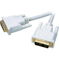 SpeaKa Professional DVI kabel, zásuvka 18+1pol. na DVI zásuvka 18+1pol., bílý 1,8 m