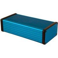 Univerzální pouzdro hliníkové Hammond Electronics, (d x š x v) 160 x 78 x 43 mm, modrá