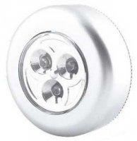Svítilna LED 3x - stříbrná, napájení 3xAAA