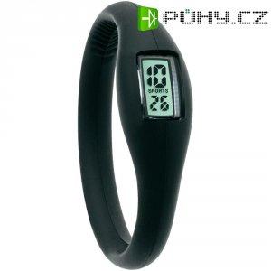 Silikonové náramkové hodinky TFA, černá