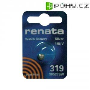 Knoflíková baterie na bázi oxidu stříbra Renata SR64, velikost 319, 21 mAh, 1,55 V