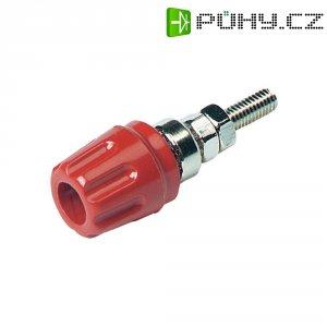 Pólová svorka SKS Hirschmann PK 10 A (930099101), (Ø x d) 14 x 42 mm, červená