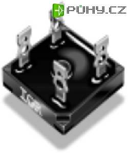 Můstek usměrňovací 1fázový Vishay GBPC3512A (16444), U(RRM) 1200 V, U(FM) 1,1 V, 35 A