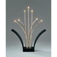 Kovový svícen LED Konstsmide, černá