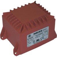 Transformátor do DPS Weiss Elektrotechnik EI 60, prim: 230 V, Sek: 2x 9 V, 1389 mA, 25 VA