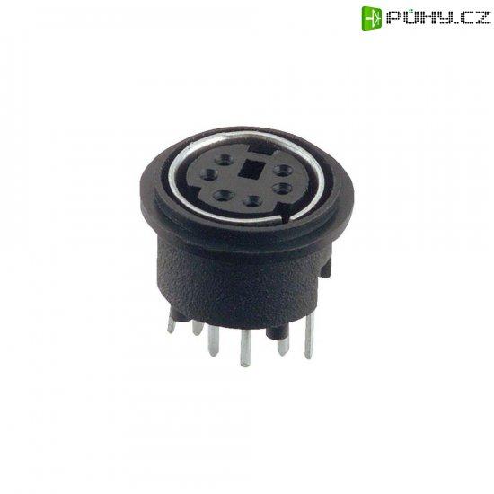 Mini DIN konektor Assmann WSW A-DIO-TOP/08, zásuvka vestavná vertikální, 8pól., černá - Kliknutím na obrázek zavřete