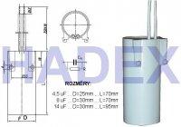 8uF/250V~ zářivkový kondenzátor MKSP-025P