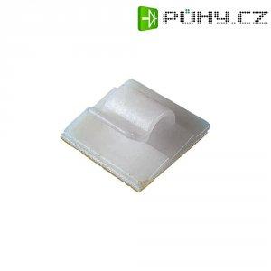 Samolepicí kabelový klip PB Fastener 5430, 19 x 19 mm, přírodní