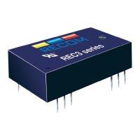 DC/DC měnič Recom REC3-2405SR/H1 (10002939), vstup 24 V/DC, výstup 5 V/DC, 600 mA, 3 W