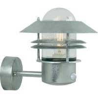 Venkovní nástěnné svítidlo s PIR senzorem Nordlux Blokhus 25031031, E27, ocel