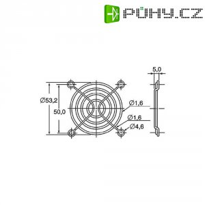 Ochranná mřížka ventilátoru Panasonic ASFN68001, 60 mm x 60 mm
